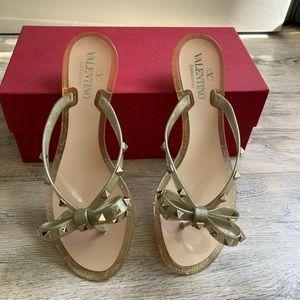 Valentino Rockstud Rubber Thong Sandal